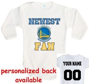 promo code 7203f 6d282 Details about Baby bodysuit Newest fan Golden State Warriors NBA One Piece  jersey