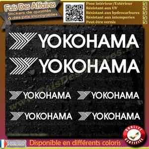 6-Stickers-Autocollant-Yokohama-sponsor-echappement-lot-planche-sticker-decal