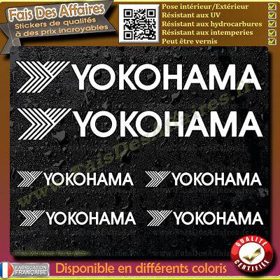 6 Stickers Autocollant Yokohama sponsor échappement lot planche sticker decal