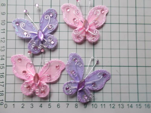 Patches Pretty Wired /& Beaded Organza Sew or Glue On Butterfly  Applique