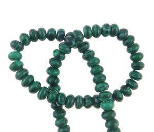 Malachitgruen-Perlen-6mm-Rondelle-Synthetischer-Schmuckperlen-60Stk-MODE-G594-3