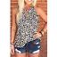 Women-Summer-O-Neck-T-Shirt-Leopard-Blouse-Casual-Beach-Tops-Sleeveless-Tank thumbnail 2