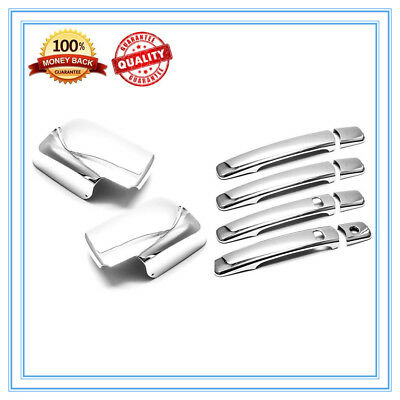 For 2008-2013 Nissan Rogue Chrome Adhesive Door Handle Cover W//Smart Key Hole