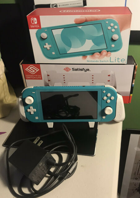 Nintendo Switch Lite Console - Turquoise W/ Removable Satisfye Switch Grip