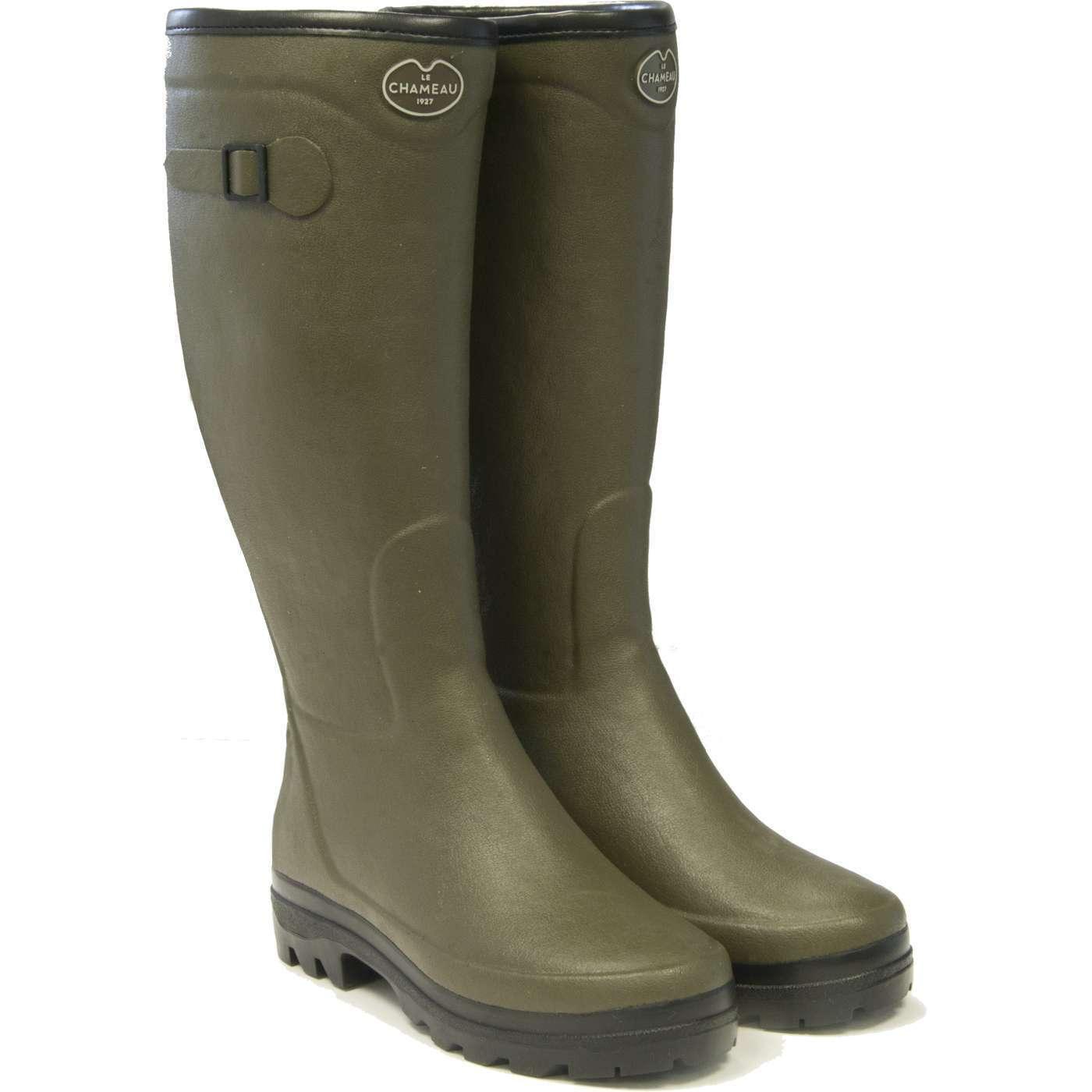 Le Chameau Country Fouree Ladies Green wellington boots FREE UK P&P