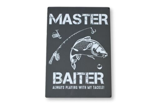 Grand Master Balter Pêche Cadeau Métal Mural Signe