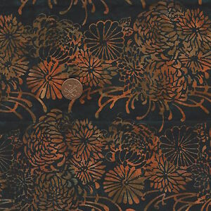 Hoffman 3326 400 Bali Handpaint Batik Black//Red 100/% Cotton Fat Quarter