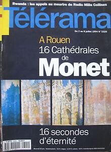 2320-ROUEN-CATHEDRALES-DE-MONET-AGNES-VARDA-RWANDA-PAUL-PERSONNE-TELERAMA-1994