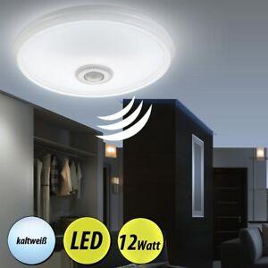 led decken lampe mit bewegungsmelder sensor bad garage treppenhaus flur leuchte ebay. Black Bedroom Furniture Sets. Home Design Ideas