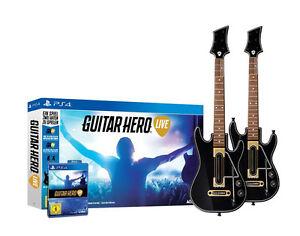 Guitar-HERO-Live-incl-chitarra-2x-per-PlayStation-4-ps4-Bundle-Merce-Nuova