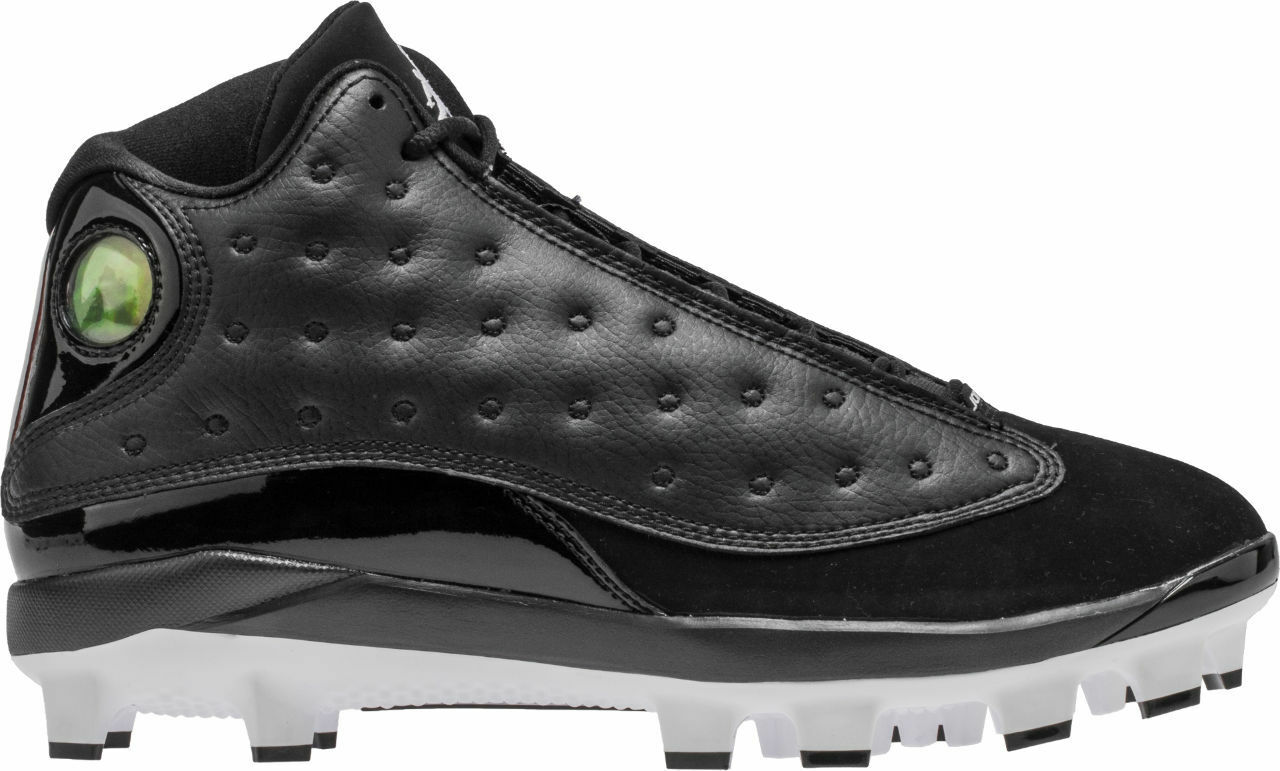 Nike Air Jordan Retro XIII 13 Cleats Black Cat Football High Men's sizes