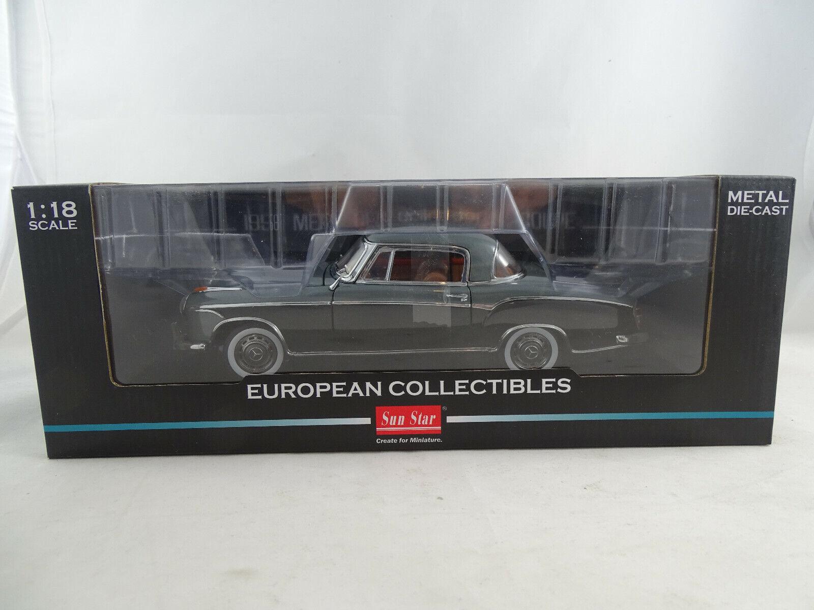 ganancia cero 1 18 Sun Estrella  3567 1958 Mercedes-Benz 220 SE SE SE Coupe Plata negro