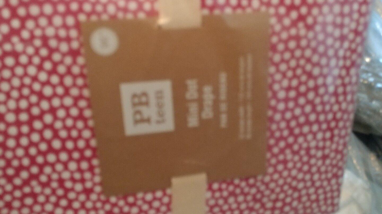 2 POTTERY BARN Teen Mini Dot rideaux 52 x 96 Rose Magenta NEUF