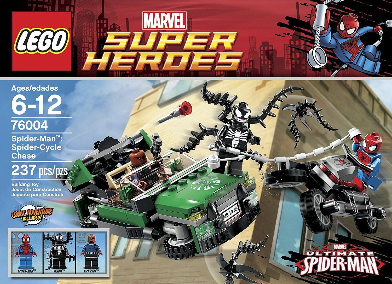 NEW LEGO MARVEL SUPER HEROES 76004 SPIDER-MAN SPIDER CYCLE CHASE **RETIrosso SET**