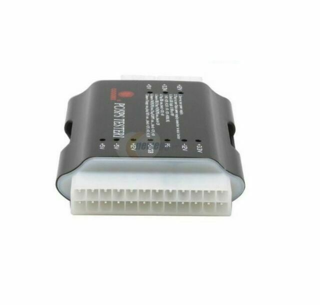 CoolMax PS-124 Deluxe 20+4pin ATX Power Supply Tester w// SATA Testing Capabiliti