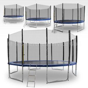 Trampolin-2-50m-4-90m-Gartentrampolin-Komplettset-mit-Leiter-amp-Sicherheitsnetz
