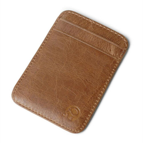 4-slots Purse Men/'s Genuine Leather Thin Slim Wallet ID Credit Card Holder NEW