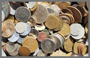 OFFERTA-Lotto-da-1-2-KG-circa-120-monete-di-monete-Mondiali-IXX-secolo
