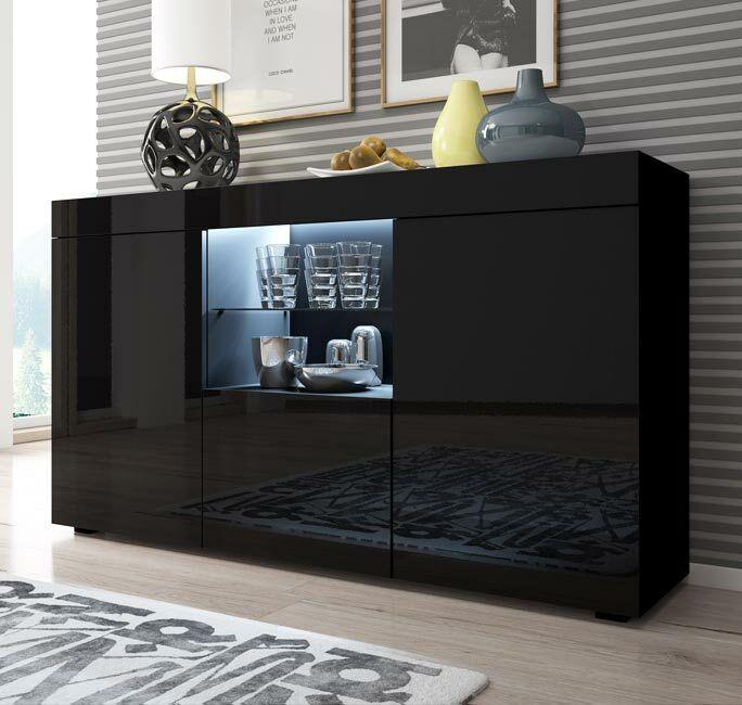 s l1600 - Aparador moderno modelo Sefora color negro