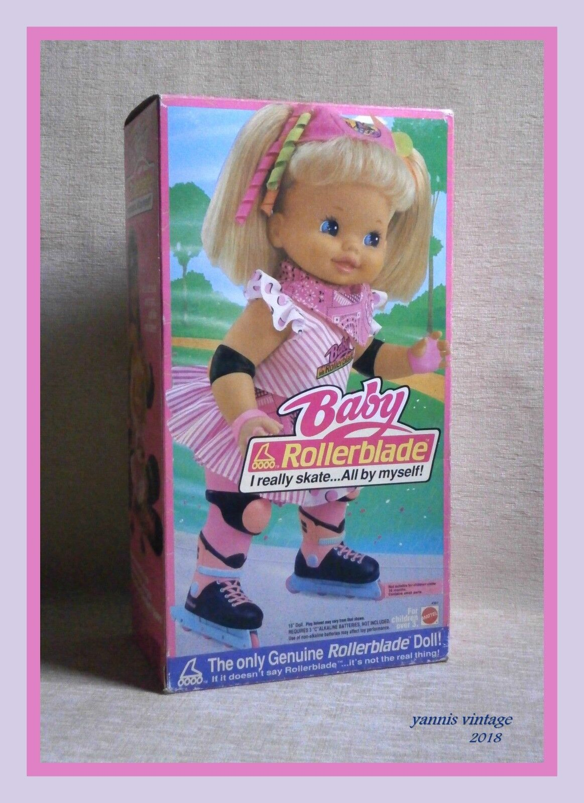 Baby Rollerblade  Bambola Nuovo con Scatola MATTEL B O MADE IN ITALY 1991
