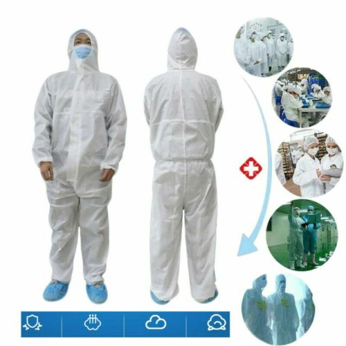 Blanc combinaison Hazmat protection de protection jetables anti-virus Clothing