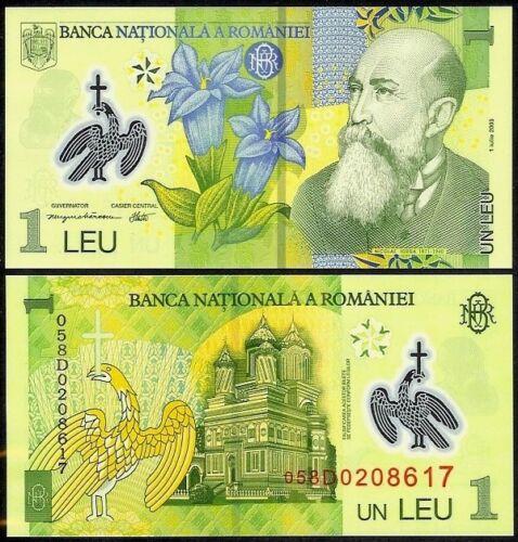08 ROMANIA 1 LEU 2005 P117 POLYMER UNCIRCULATED