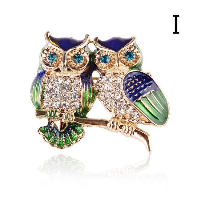 Women Luxury Trend Colorful Crystal Glass Rhinestone Butterfly Brooch Jewelry 6A