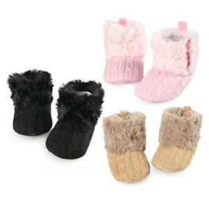 Baby Kinder Jungen Mädchen Winter Warme Schuhe Weiche Sohle Krippe Schneestiefel