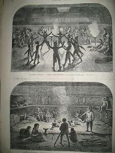ALASKA-DANSE-LONDRES-VENTE-DE-CHIENS-TROUVeS-COMEDIE-FRANCAISE-GRAVURES-1869