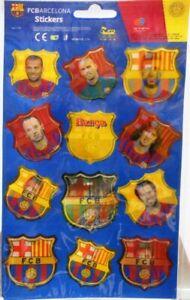 FC BARCELONA + 12 hochwertige Hologramm 3D Sticker + Offizielles Produkt + Messi