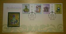 Royal Selangor Pewter Niobium Stamp FDC - 2001 Cultural Instruments & Artifacts
