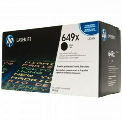 NEW HP CE260X 649x Black Toner CP4525 Cartridge GENUINE