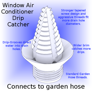 air conditioner drain diagram air conditioner  window a c  drain condensation drip catcher to  drain condensation drip catcher