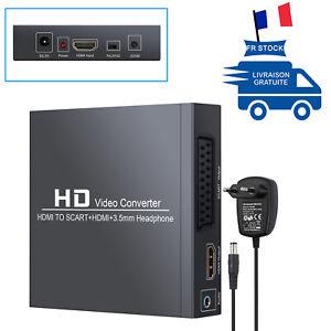 Adaptateur HDMI à Péritel Audio Stéréo Convertisseur HDMI vers SCART Composite