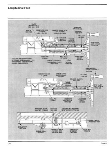 Business & Industrial & Parts Manual #1493 Harig 612 & 618 Hand ...
