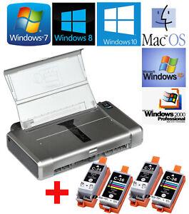 Small-Mobile-Printer-Canon-Pixma-IP100-for-Win-2000-XP-7-8-10-2x-Sets-Color