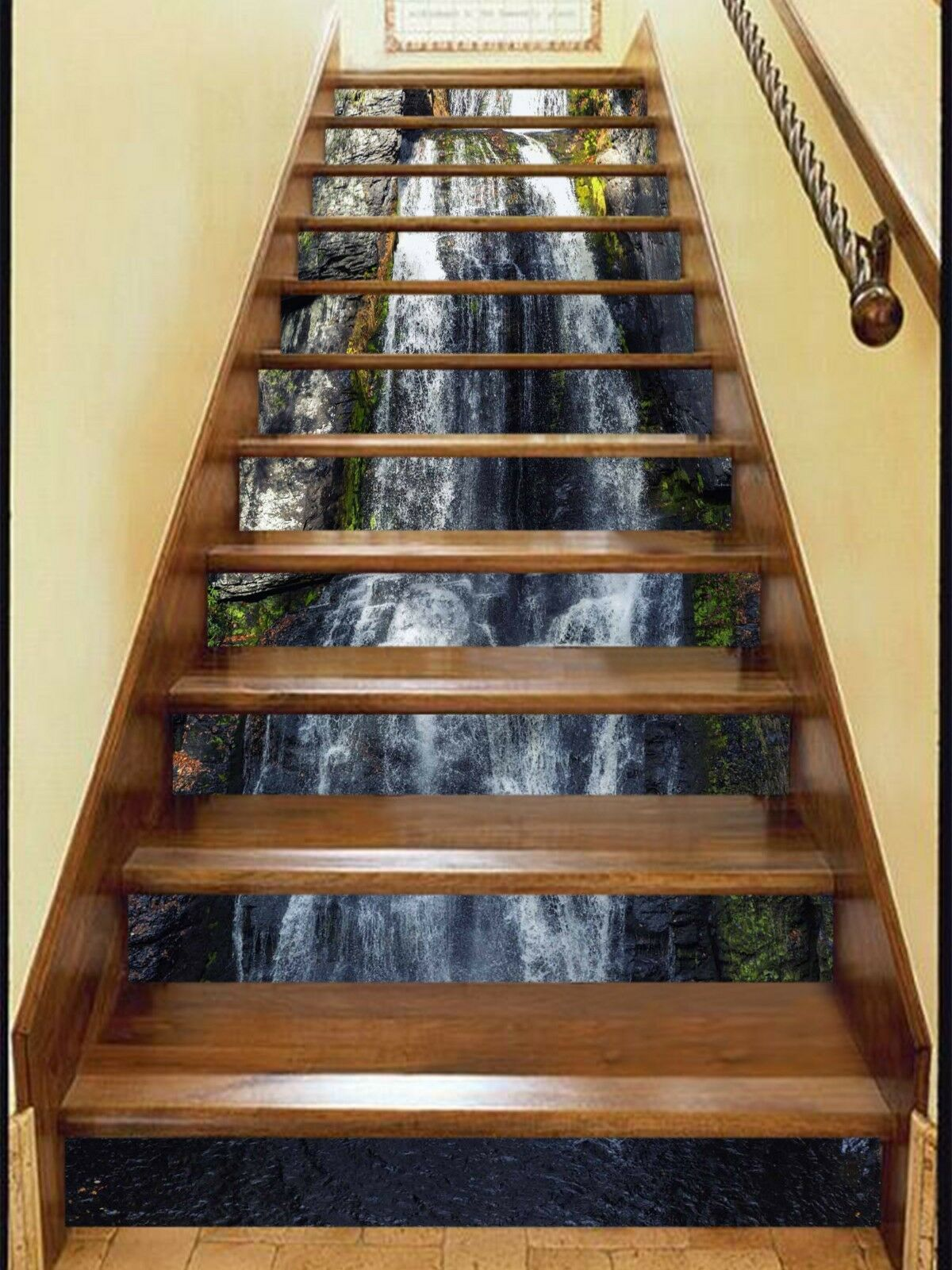 3D Adorn Waterfall Stair Risers Decoration Photo Mural Vinyl Decal Wallpaper US