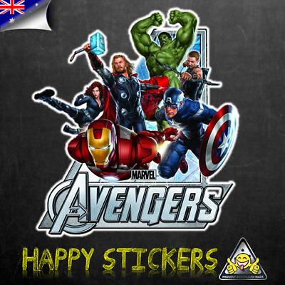 Iron Man,Thor,Captain America/&Hulk Sticker Marvel Avengers Window Stickers x 4