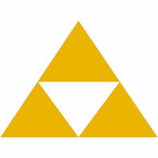 "Legend of Zelda Tri Force TriForce Logo 2"" Decal Sticker Car Window Laptop 2x"