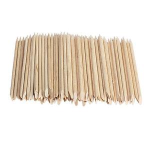 100-Nail-Art-Orange-Wood-Sticks-Cuticle-Pusher-Remover-Pedicure-Manicure-Tool