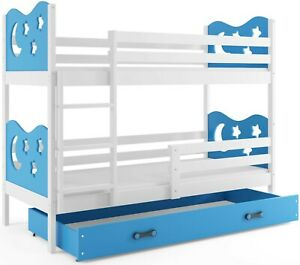 Etagenbett Kinderbett Stockbett Hochbett Miko 160x80 Matratze