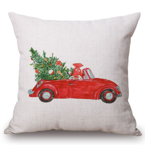 "18/"" Dachshund Christmas Cushion Cover Dog Throw Pillowcas Pillow Case Home Decor"