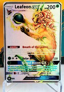 POKEMON: LEAFEON GX - FULL ART HOLO CUSTOM HANDMADE ORICA CARD NOT TCG READ DESC