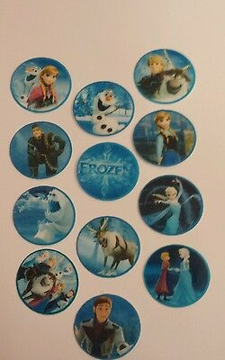 48 PRECUT Edible Frozen 3cm discs wafer/rice paper cake/cupcake toppers