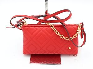 NWT-Tory-Burch-Fleming-Red-Quilted-Leather-Crossbody-Convertible-Bag-40567-298