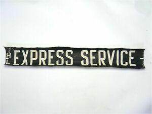 Vintage-screen-printed-linen-Bus-destination-blind-HL-Express-Service