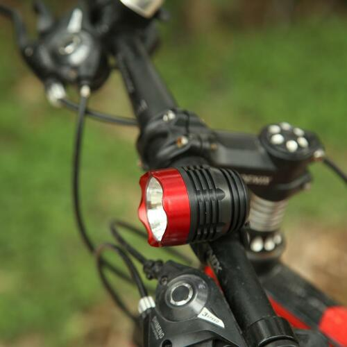3 Modes White LED Bicycle Front Light Flashlight Bike Night Cycling Torch Lamp