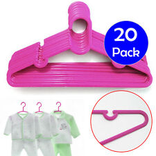 Confezione da 20 ROSA BAMBINI BABY Abiti Appendiabiti in plastica di Mini guardaroba gancio staffa
