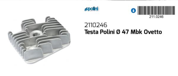 2019 Nuovo Stile Polini Testa Cilindro Ø47 Beta Ark 50 1996-2008 / Chrono 50 1996-1999 Una Grande Varietà Di Merci