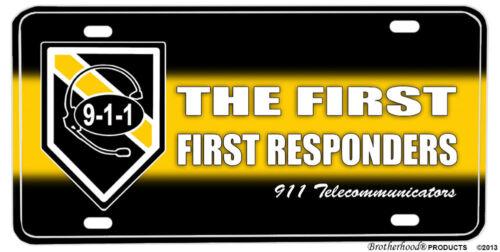 First First Responders 911 Telecommunicators Aluminum License plate